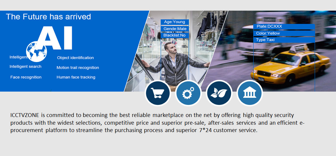 ICCTVZONE is committed to becoming the best reliable marketplace on the net by offering high quality security products with the widest selections, competitive price and superior pre-sale, after-sales services and an efficient e-procurement platform to streamline the purchasing process and superior 7*24 customer service.