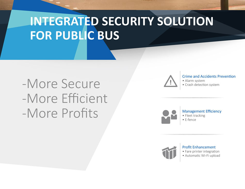 Security Concerns Management Efficiency Fleet tracking Bus scheduling More Profits Controlling measures of fare fraud Reduce network traffic cost
