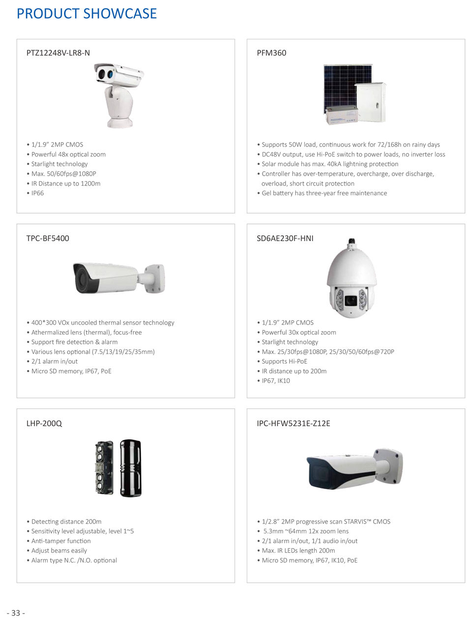 OIL AND GAS SOLUTION Environment Surveillance - 15 - T & H Detecton • Temperature and humidity detecton and alarm • Make linkage with air conditoner Smoke Detecton • It will send an alarm if the device gets on fire Water Detecton • If water flows into the room, it gets