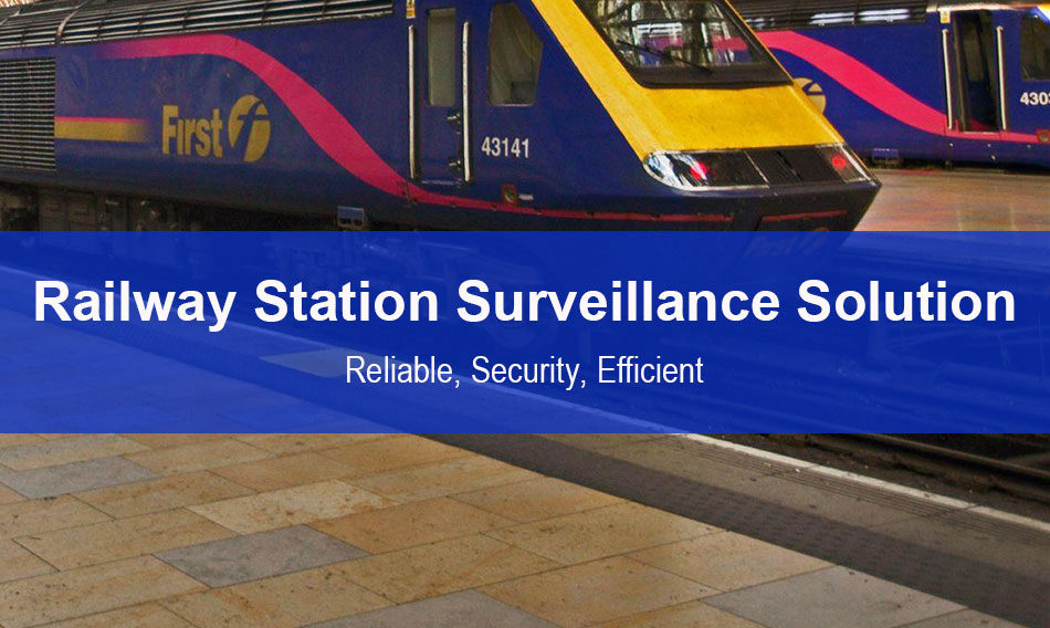 Dahua railway station surveillance solution including network based CCTV, Emergency Alarm, Two-way intercom, intrusion detection, Face recognition, Passenger flow management, Display systems; using professional equipment, Artificial intelligent Algorithm to make operation reliable, security, efficient.